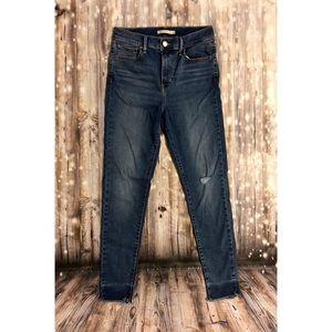 Levi's high rise super skinny raw hem jeans